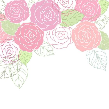 cute  floral card with roses Imagens - 18696008
