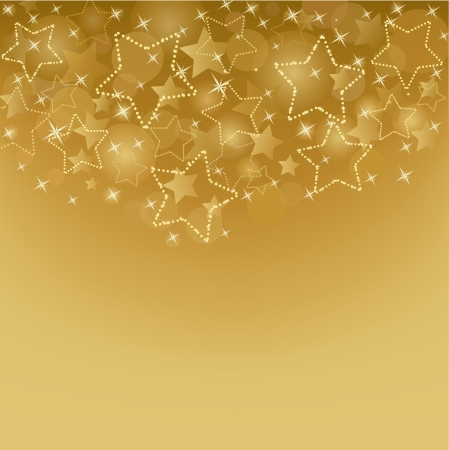 Gold card  with  stars