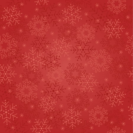 flakes: seamless abstract red Christmas background with snowflakes