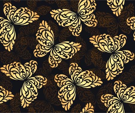 Zökkenőmentes absztrakt háttér pillangók Illusztráció
