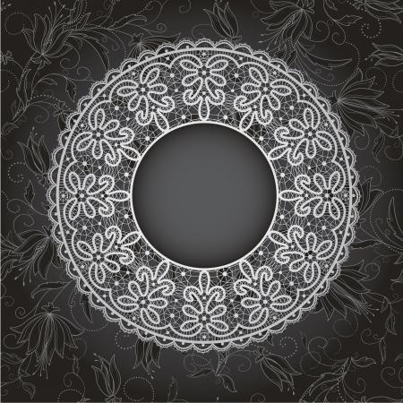 Vorlage Rahmendesign f?r die Karte. Vintage Lace Doily