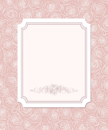 feminine: cute card with  roses