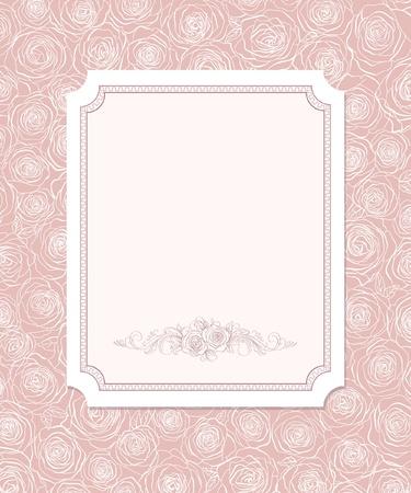 feminine background: tarjeta linda con las rosas