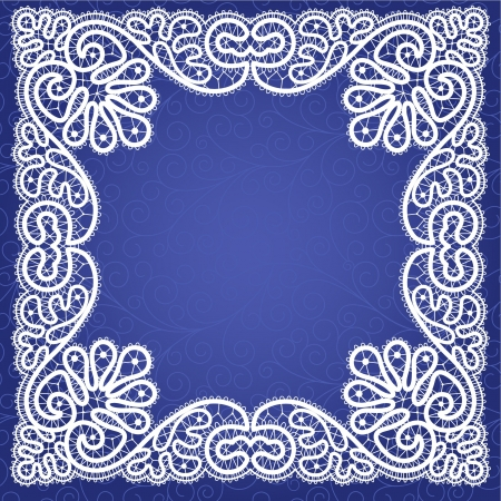 Template frame  design for card. Vintage Lace Doily  Vector
