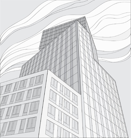 drawing of skyscraper Stock Vector - 21649977