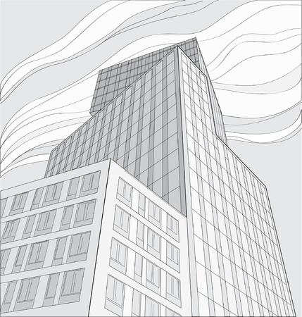 drawing of skyscraper Stock Vector - 21649977