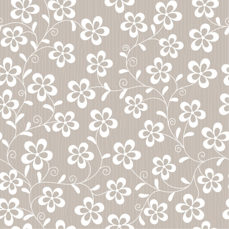 seamless abstract backgroung with  flowers Vector