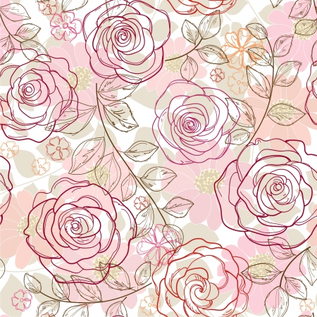 seamless abstract  floral background Imagens - 21649985