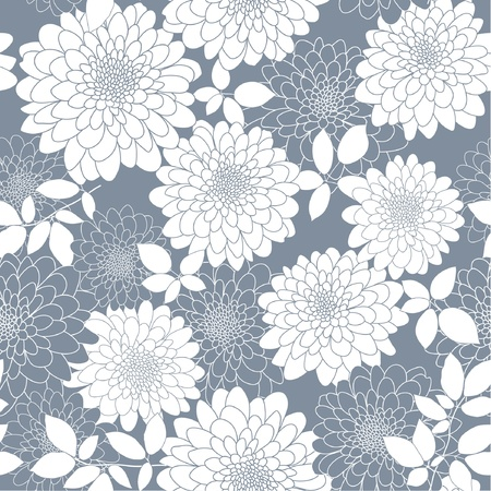 grey seamless abstract floral background Vector