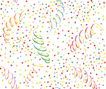 seamless background with  streamer and confetti  Stock Vector - 21919695