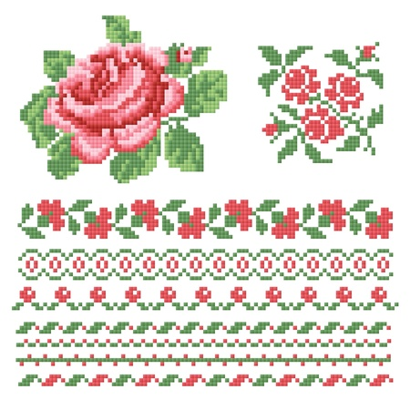 Set of roses, lappet Vector