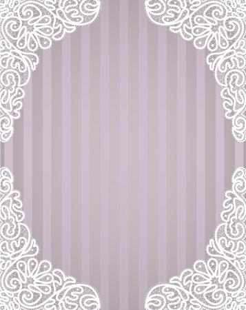 Template frame  design for card  Vintage Lace Doily Imagens - 22774541