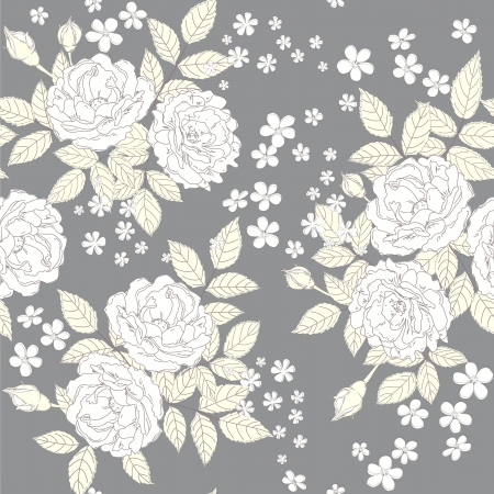 Seamless vintage background  with roses