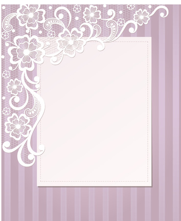 lace doily: Template frame  design for card  Vintage Lace Doily