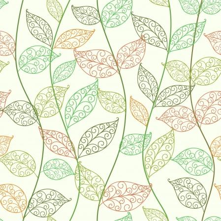 zökkenőmentes absztrakt virágos háttér levelek