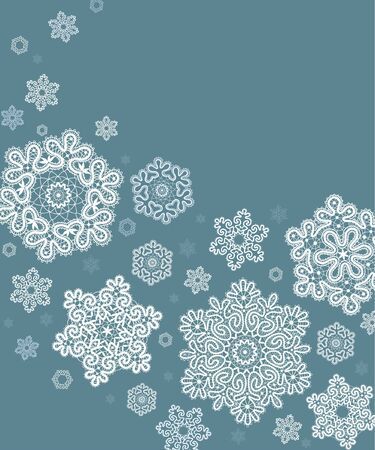season greetings: Card  with  stylized  Christmas  snowflake. Illustration