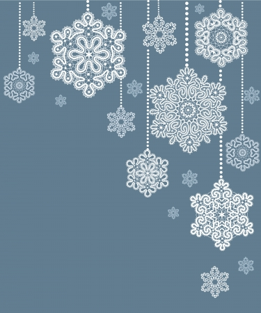 placemat: Card  with  stylized  Christmas  snowflake