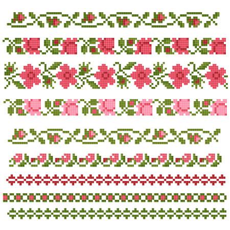 floral decorative element, embroidery Ilustração