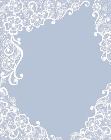 lace doily: Template frame  design for card  Illustration