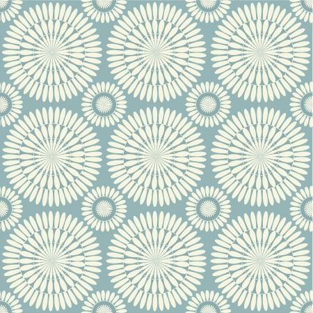 Retro grey seamless circle background Ilustração