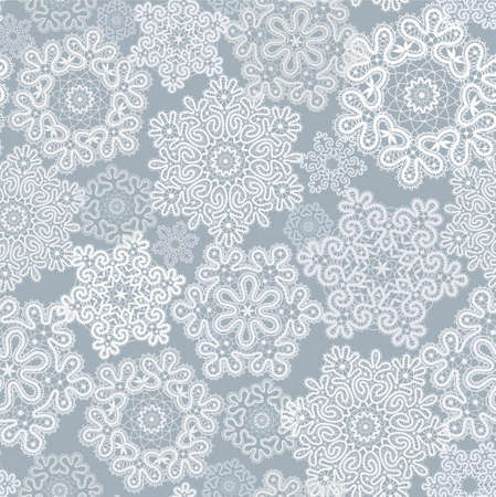 background with  stylization Christmas snowflakes Vector