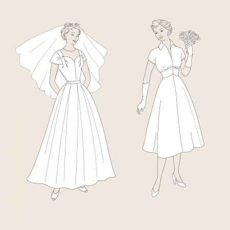 60's: wedding dress, 60 s style