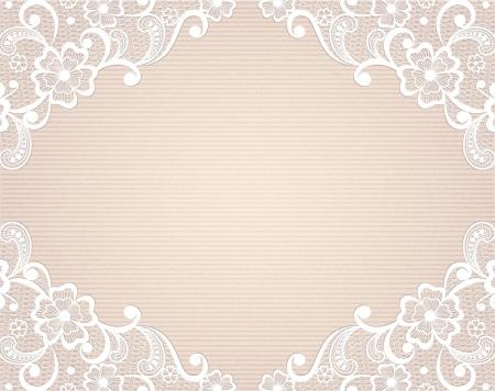 Sjabloon frame ontwerp voor kaart Vintage Lace Doily