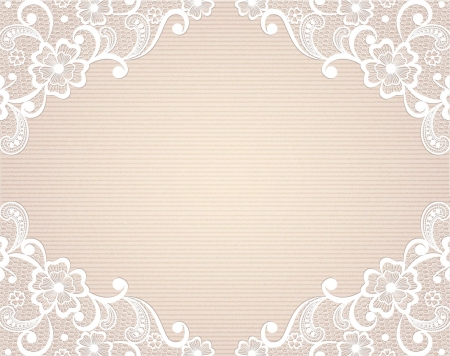 Template frame  design for card  Vintage Lace Doily Imagens - 24697426