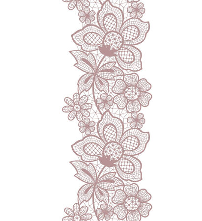 leaflets: seamless lace abstract floral background Illustration