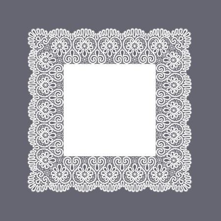 Template frame  design for card  Vintage Lace Doily Imagens - 28380179