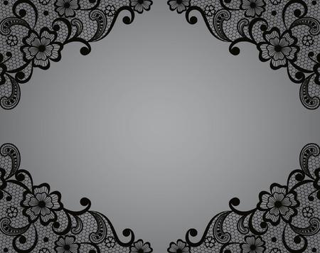 Plantilla de diseño de la estructura de encaje vintage tarjeta Tapetito Foto de archivo - 28380180