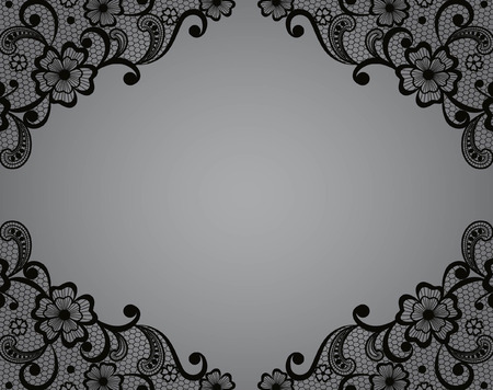 Template frame  design for card  Vintage Lace Doily