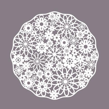 Template-Rahmen-Design für card Vintage Lace Doily Vektorgrafik