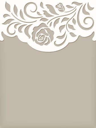 cute floral card Illustration