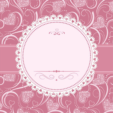 wedding photo frame: Template frame design for greeting card
