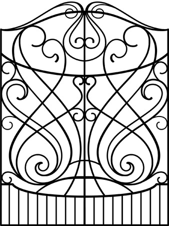 windows and doors: Wrought Iron Gate, Door, Fence