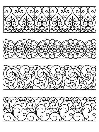 Wrought Iron Gate Illustration