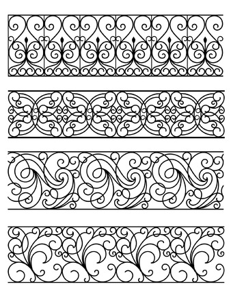 iron gate: Wrought Iron Gate Illustration
