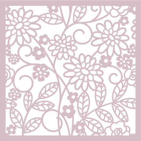 leaflets: abstract floral background Illustration