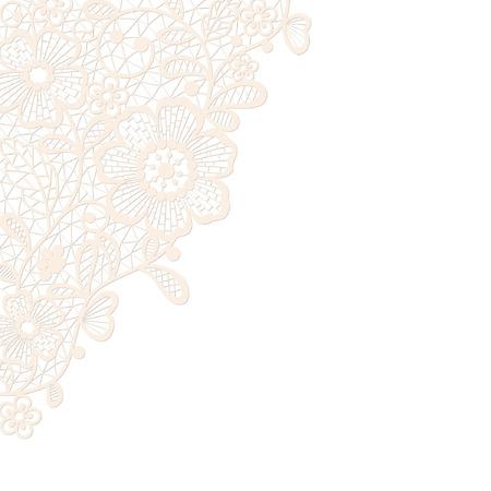 Template frame  design for card  Vintage Lace Doily Imagens - 30878392