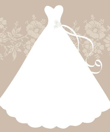 transparent dress: Wedding invitation card