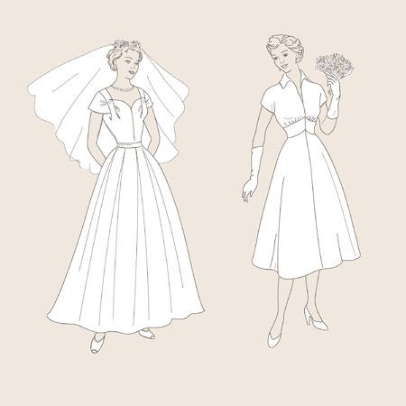 transparent dress: wedding dress, 60s style