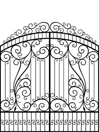 victorian fence: Wrought Iron Gate, Door, Fence