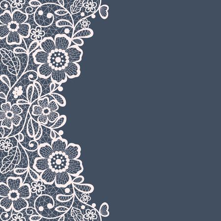 Rahmen-Design für Karte. Jahrgang Spitzendeckchen Standard-Bild - 33501762
