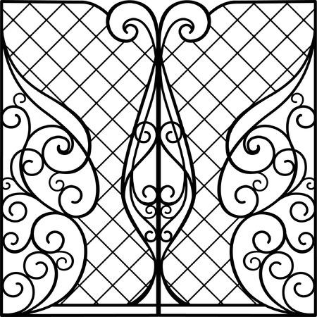puertas de hierro: Puerta de hierro forjado, puerta, valla