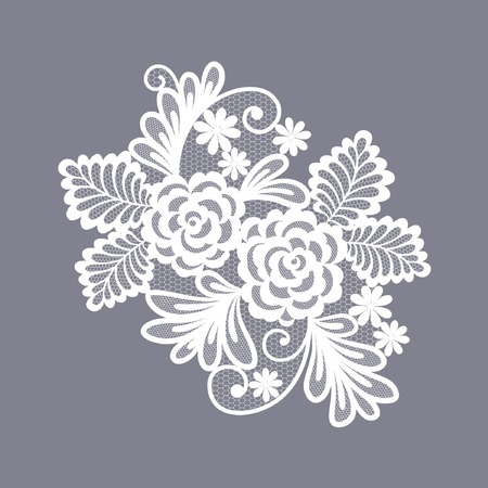 lace floral decorative element