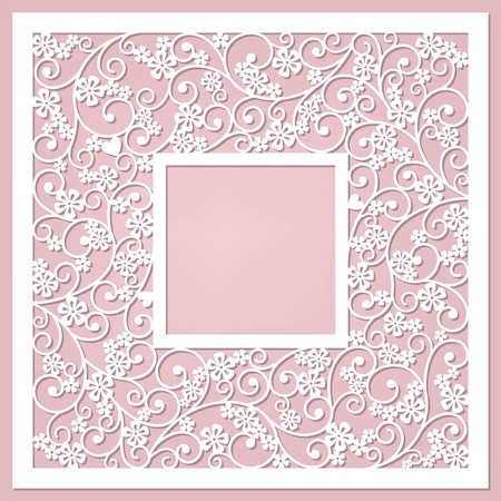 floral frame Stock Illustratie