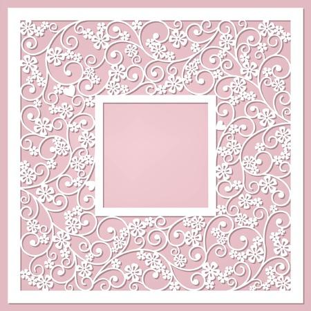 wedding heart: floral frame Illustration