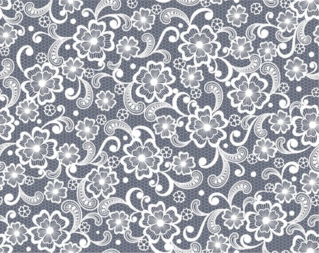 seamless lace floral background Ilustrace