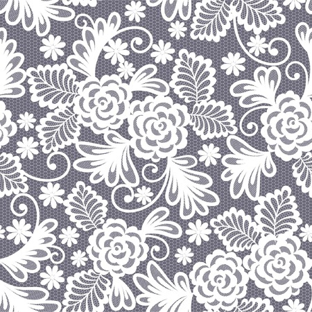 lace fabric: seamless lace floral background Illustration